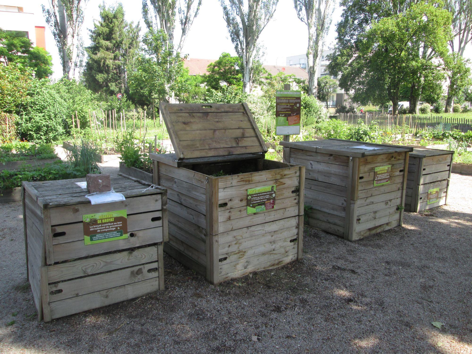 Création d'une station de compostage collective