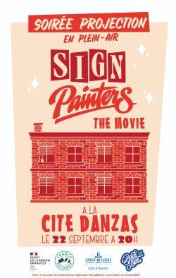 Projection en plein air du documentaire Sign Painters